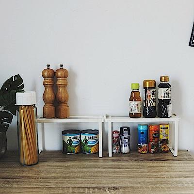 Home Feeling 調味瓶罐架/可堆疊收納架/置物架(2入)