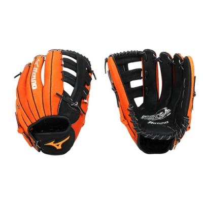 MIZUNO 壘球手套-右投 外野手套 美津濃 1ATGS21930-0951 橘黑銀