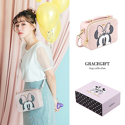 Disney collection by grace gift-米妮大頭兩用方包