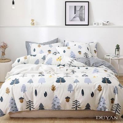 DUYAN竹漾 MIT 舒柔棉-單人床包被套三件組-栗松秘境