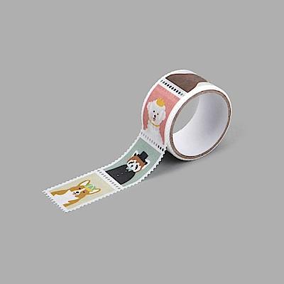Dailylike 郵票造型紙膠帶(單捲) - 01 動物