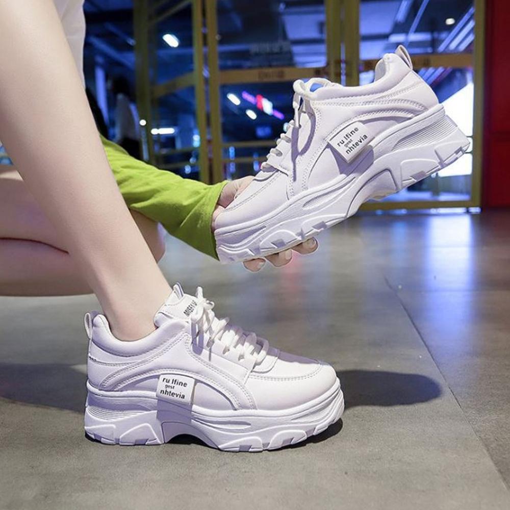 LN 現+預 韓系厚底增高顯瘦百搭老爹鞋-2色 (白色)