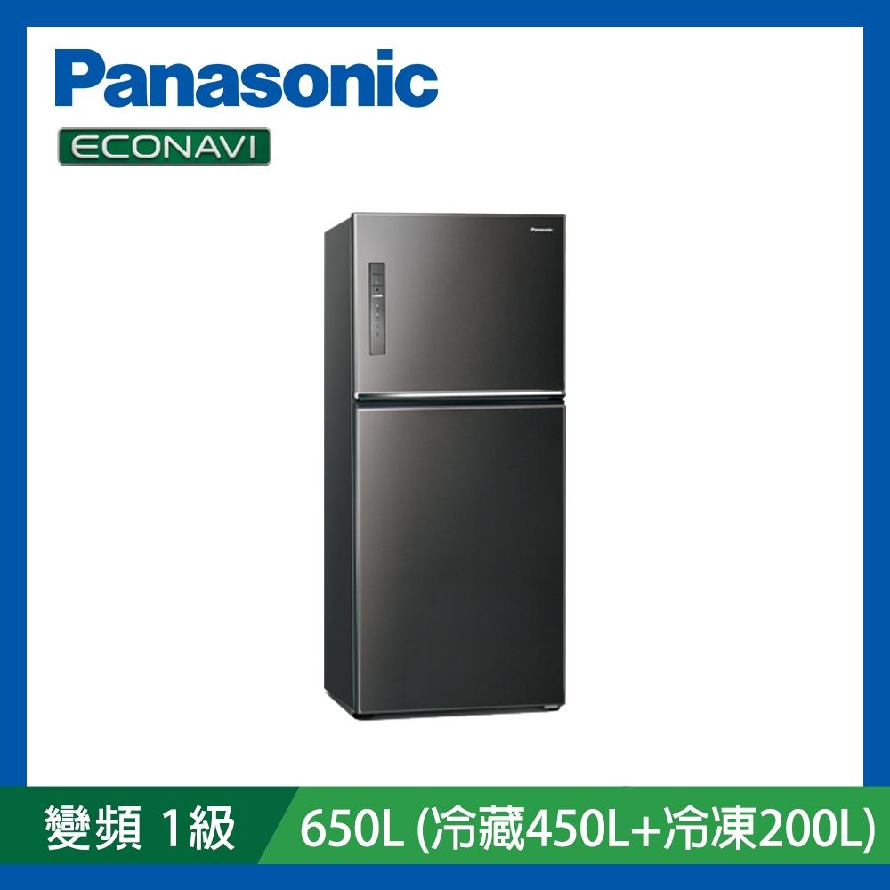 [館長推薦]Panasonic國際牌 650L 雙門 無邊框鋼板 變頻冰箱 NR-B651TV-K