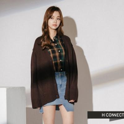 H:CONNECT 韓國品牌 女裝 - 細節特色針織外套  - 棕