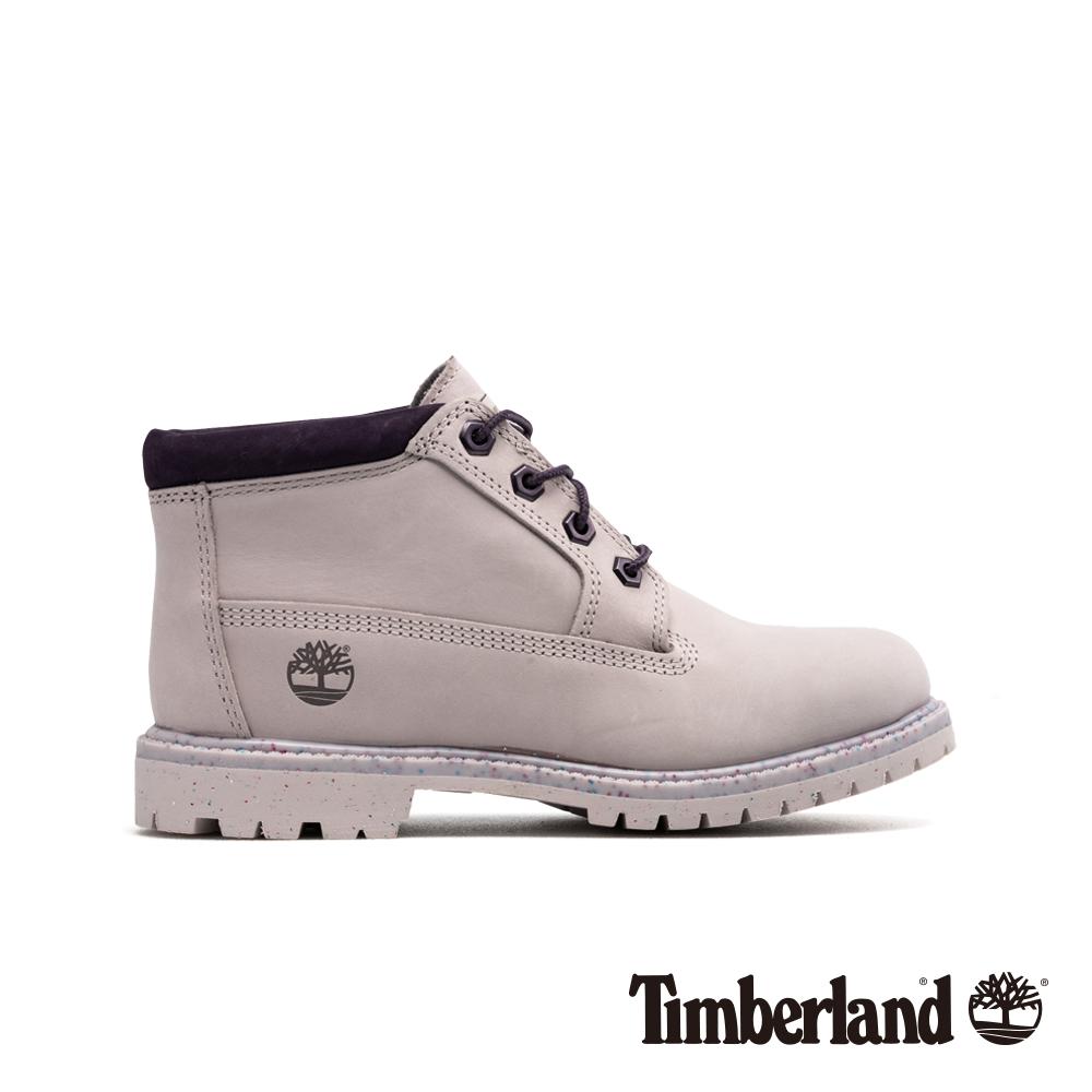 Timberland 女款淺紫色磨砂革 經典低筒靴|A1WCS