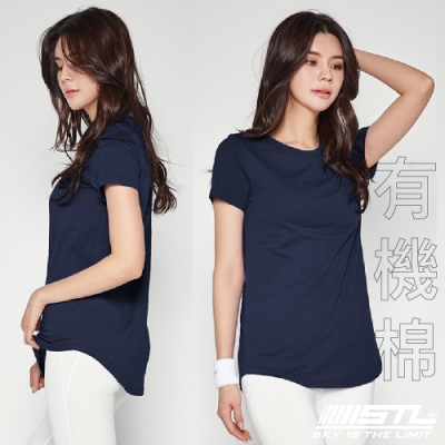 STL Yoga 韓國 Organic有機棉 SS 運動機能 短袖上衣 皇家藍InkBlue 登山/戶外/瑜珈/重量訓練