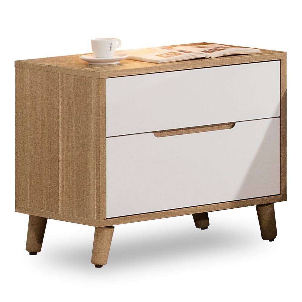 時尚屋 肯詩特烤白雙色1.8尺床頭櫃  寬55.1x深40x高51cm