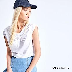 MOMA 胸前抓皺無袖上衣