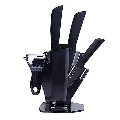 5件式黑刃陶瓷刀組(TJC-159BK)