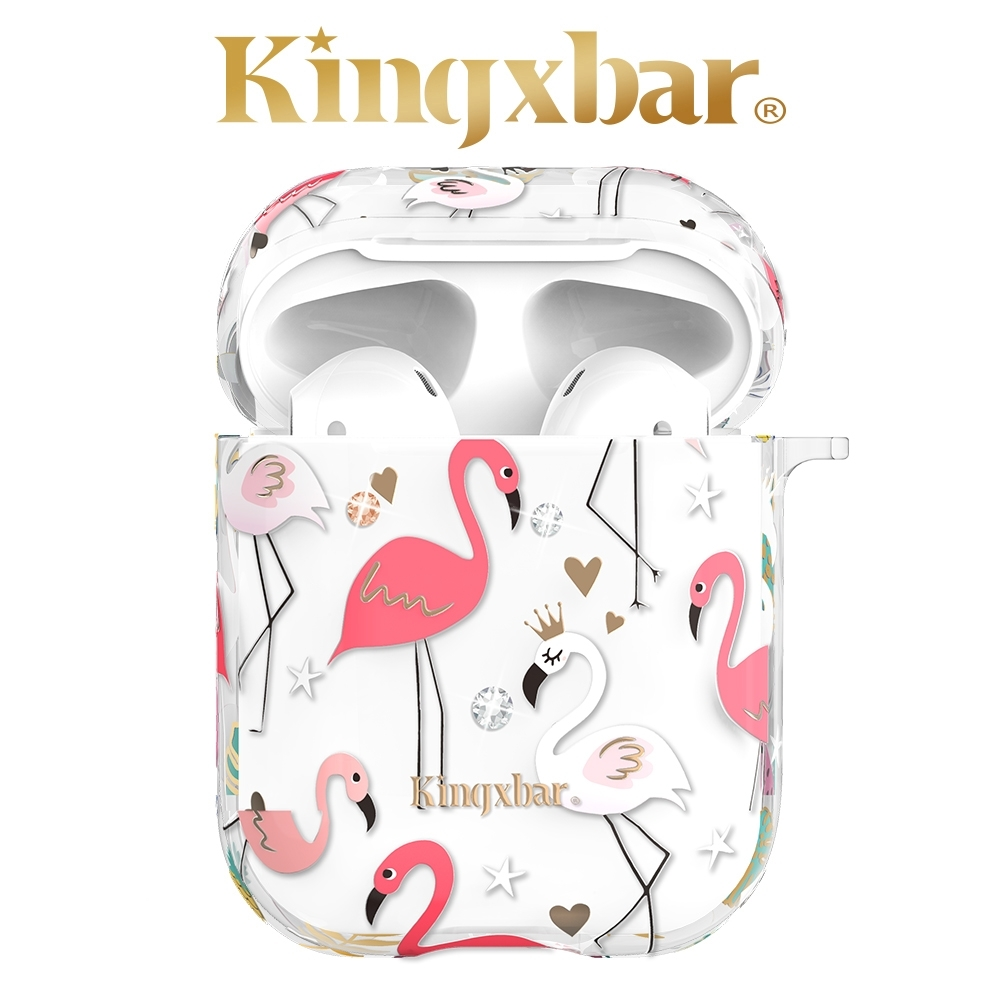 Kingxbar AirPods 施華洛世奇彩鑽保護套-金冠