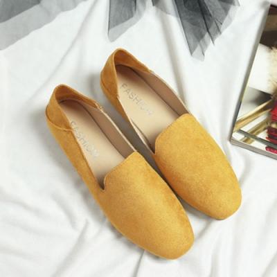 KEITH-WILL時尚鞋館 果色繽紛英倫風懶人鞋 黃