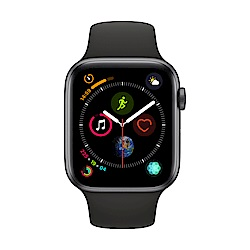 Apple Watch Series 4(GPS) 44mm太空灰鋁金屬錶殼+黑色運動錶帶