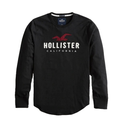 Hollister HCO 長袖 T恤 黑色 1475