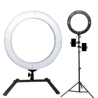 YADATEK 18吋可調色溫超薄LED環形攝影燈(YR-800A)送210cm燈架三機位