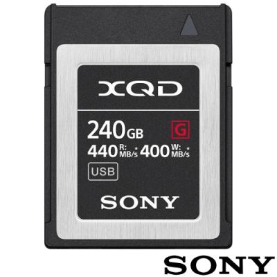 SONY QD-G240F 240G 240GB 440MB/S XQD G系列 高速記憶卡 (公司貨) 支援 4K Z6 Z7