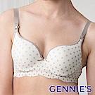 【Gennie's奇妮】涼酷無痕-美波動哺乳內衣-白底灰點(GA29)
