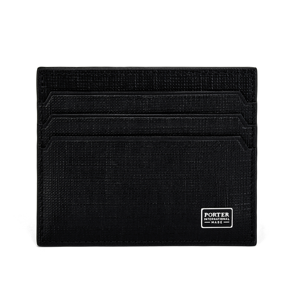 PORTER - 高貴風尚LOFTY簡約商務卡片夾 - 黑