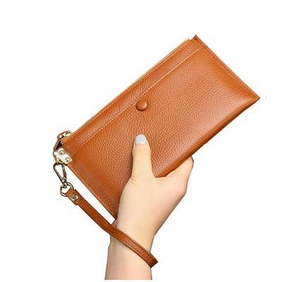 玩皮工坊-真皮頭層牛皮女士皮包錢包手拿包長夾手抓包女夾LH563