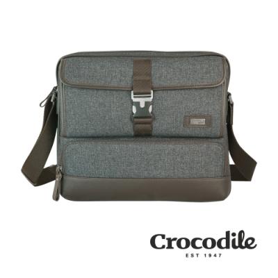 Crocodile 鱷魚皮件 Neat 2.0系列 布配皮 橫式斜背包(L) 側背包 0104-08304-07