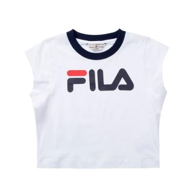 FILA #LINEA ITALIA 短袖圓領T恤-白 5TET-5417-WT