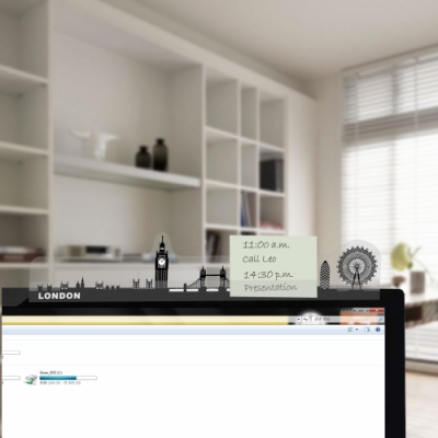 OSHI歐士 夾心留言備忘板-城市4入留言板 備忘板 螢幕側邊板 memo夾