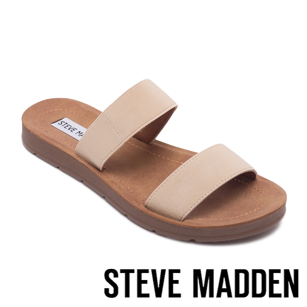 STEVE MADDEN-POSCALE 彈性帶雙帶涼拖鞋-粉色