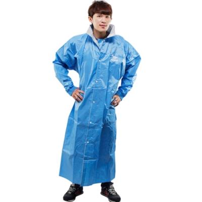 JUMP新二代前開素色雨衣-藍色-超大5XL+通用鞋套
