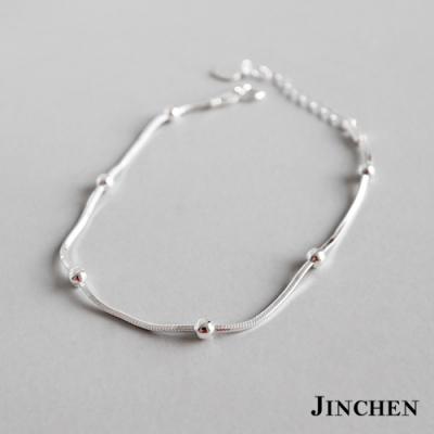 JINCHEN 純銀蛇鍊珠珠手鍊