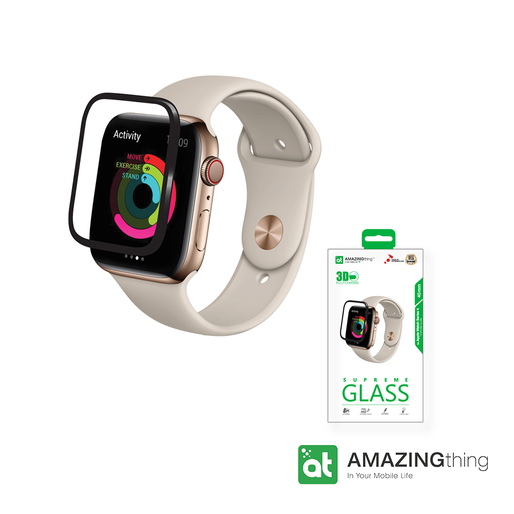 AmazingThing Apple Watch S4 40mm 滿版強化玻璃保護貼