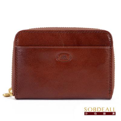 SOBDEALL-男女通用真皮卡片零錢包