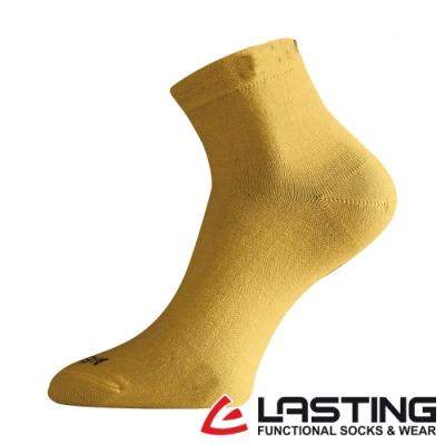 【LASTING捷克】女款美麗諾羊毛抗菌除臭吸濕排汗短襪/薄襪LT-WAS黃