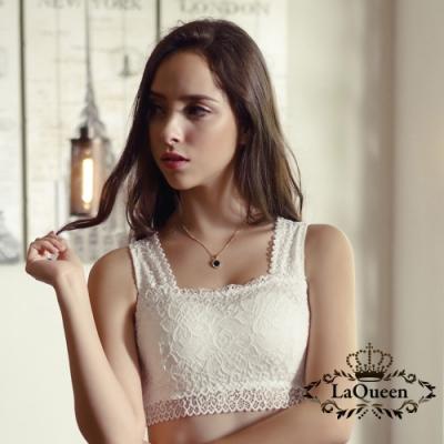 內衣 法式蕾絲蠶絲機能內衣-白  La Queen