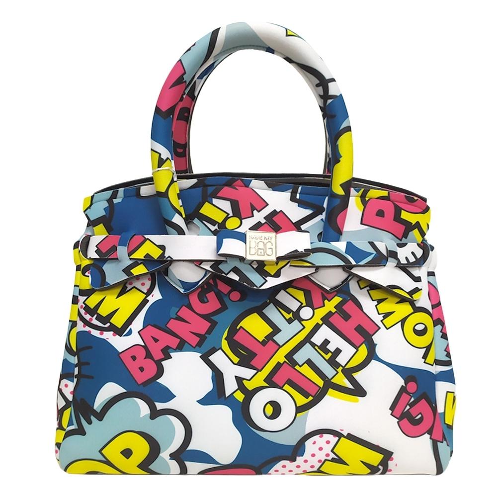 SAVE MY BAG Petite Miss系列Hello Kitty輕量托特包-藍色(展示品)