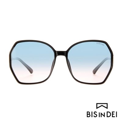 BIS IN DEI 復古爵士框太陽眼鏡-藍