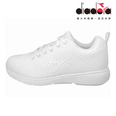 Diadora 女飛織輕跑鞋 白 DA8AWR6709