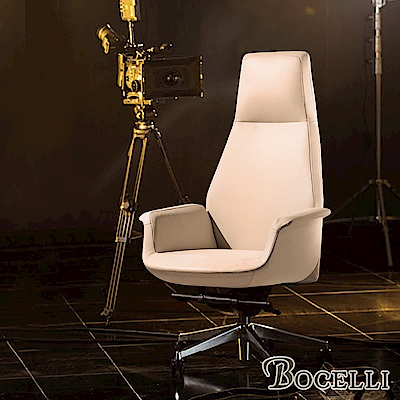 BOCELLI-CLASSICO經典風尚高背辦公椅(義大利牛皮)優雅米