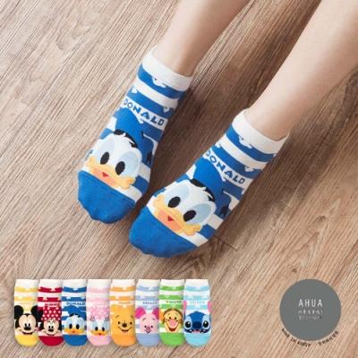 阿華有事嗎  韓國襪子 粗條紋迪士尼人物短襪  韓妞必備 正韓百搭純棉襪