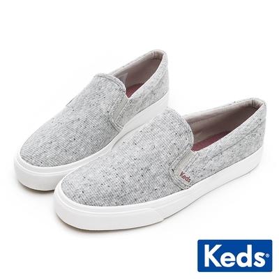 Keds JUMP KICK SLIP ON 百搭織紋懶人鞋-灰