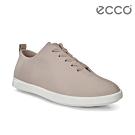 ECCO LEISURE 超柔軟牛皮緞帶休閒鞋 女-灰粉