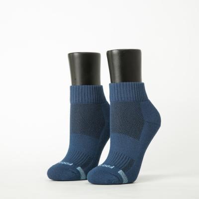 Footer除臭襪-素面運動逆氣流氣墊襪-六雙入(深灰*2+淺灰*2+藍*2)