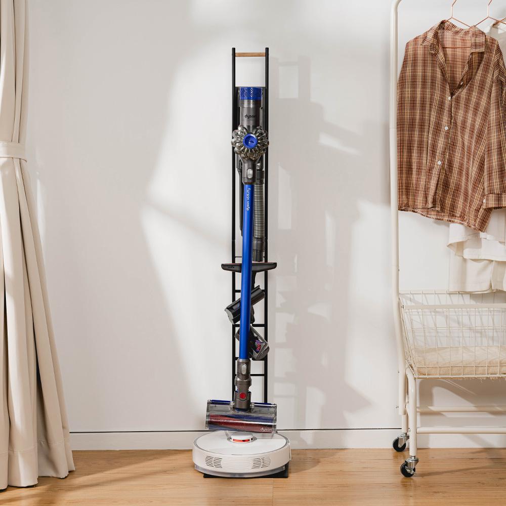 樂嫚妮 多功能吸塵器/掃地機器人收納架-多型號-黑色