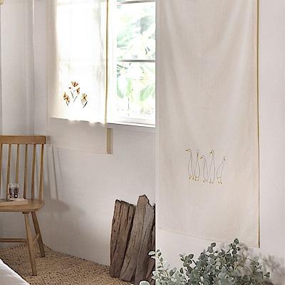 完美主義 鴨子家族刺繡掛簾/窗簾/簾子/韓國製-70x150cm