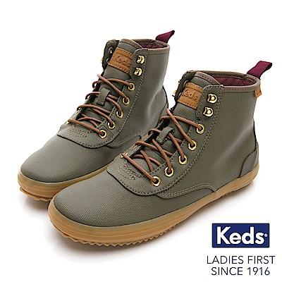 Keds SCOUT 機能防潑水時髦靴-橄欖綠