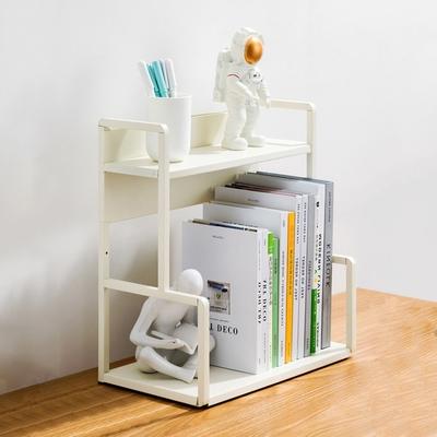 【HappyLife】H型桌面置物架花架-兩層40cm(白色) 40×22×41.5cm