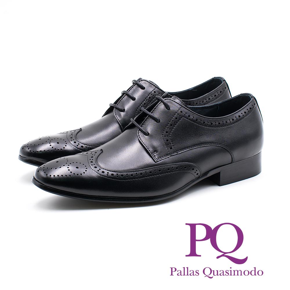 PQ 雕花繫帶德比鞋 男鞋 - 黑