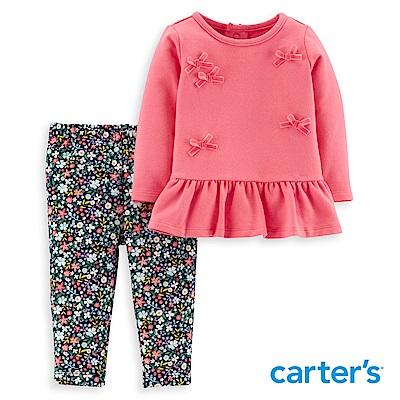Carter's 荷葉立體蝴蝶結二件組套裝