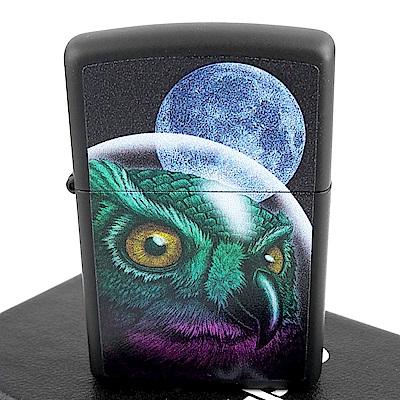 ZIPPO 美系~Space Owl-太空貓頭鷹圖案打火機