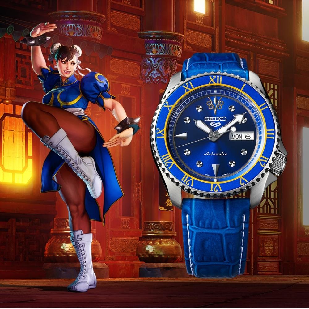 SEIKO 5 快打旋風Street Fighter V聯名腕錶-CHUN-LI春麗(SRPF17K1)