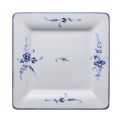 德國Villeroy&Boch 唯寶老盧森堡 方型點心瓷餐盤 菜盤 16cm