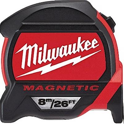 Milwaukee 美沃奇 8m/26FT磁性捲尺 公分/公寸48-22-7225